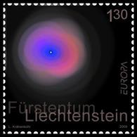 "LIECHTENSTEIN  - EUROPA 2009 - TEMA ""ASTRONOMIA""-  SERIE De 1 V. -DENTADO (PERFORATED) - 2009"