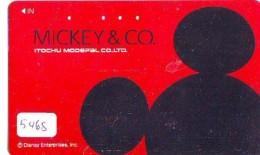 Télécarte Japon * 110-011 * DISNEY * MICKEY & CO * ITOCHU MODEPAL (5468) PHONECARD JAPAN TELEFONKARTE - Disney