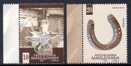 Macedoine Macedonia 0477/78 Forges, Forgeron, Acier, Enclume, Fer à Cheval - Fabrieken En Industrieën