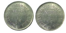 01107 GETTONE JETON TOKEN DENMARK GAMBLING TOKEN AMUSEMENT PARK TIVOLI - Tokens & Medals