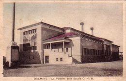 DALMINE-BERGAMO-LA PALESTRA DELLE SCUOLE O.N.B-CARTOLINA VIAGGIATA IL 28-7-1938 - Bergamo