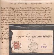 Maroc - Morocco - 1902 - Poste Chérifienne Tanger à Fes Sur Lettre Complète Avec Texte - RR - Maroc (1891-1956)