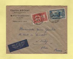 Alger Destination Vichy Via Alger Gare Section Avion - 16-3-1939 Arrivee Le 18-3-1939 - Algeria (1924-1962)