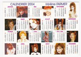 Mylène FARMER Carte Postale N° ATHQ 102 Calendrier 2004 - Artistes