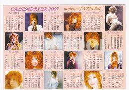 Mylène FARMER Carte Postale N° ATHQ 159 Calendrier 2007 - Artistes