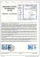 """FRANCE 1986 : Document Officiel 29-86 """" MESURE D'ARCS DE MERIDIEN"""" N° YT 2428. DPO - Emissions Communes"""
