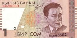 KYRGYZSTAN 1 COM (SOM) 1999 (2000) P-15 UNC [ KG210a ] - Kirgisistan
