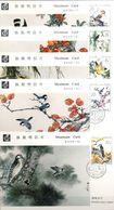 CHINA 1982 ,SERIE DE TARJETAS MÁXIMAS , AVES , BIRDS - 1949 - ... Volksrepublik