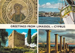 Postcard Greetings From Limassol Cyprus By John Hinde  Multiview  PU 1982 My Ref B22194 - Greetings From...