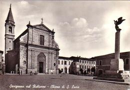 SAVIGNANO SUL RUBICONE-FORLì CESENA-CHIESA DI S.LUCIA-CARTOLINA VERA FOTOGRAFIA-VIAGGIATA NEL 1958 - Forli