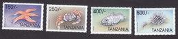 Tanzania, Scott #1729-1732, Mint Hinged, Marine Life, Issued 1998 - Tanzania (1964-...)