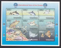 Tanzania, Scott #1734, Mint Never Hinged, Marine Life, Issued 1998 - Tanzanie (1964-...)