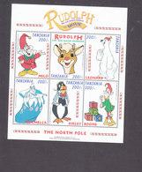Tanzania, Scott #1752-1753, Mint Never Hinged, Rudolph, Issued 1998 - Tanzania (1964-...)