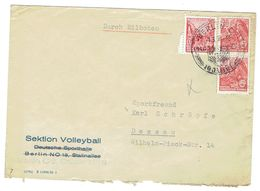 DDR Brief Mit Mi.Nr.416,455 Sonderstempel Berlin 1.3.56 Nach Dessau - DDR