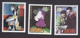 Tanzania, Scott #1759-1761, Mint Hinged, Art, Issued 1998 - Tanzania (1964-...)