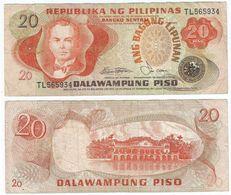 Filipinas - Philippines 20 Piso 1978, Firma 9 Pick 162.b Ref 1420 - Filipinas