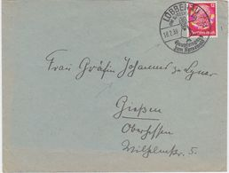 GERMANY 1938 (18.2.) COVER LÜBBENAU (Spreewald) ILLUSTR.PM TO GIESSEN (address !) - Allemagne