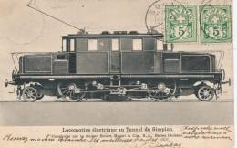 H28 - Locomotive électrique Au Tunnel Du Simplon - Construite Par La Maison Brown, Boveri & Cie, S.A., Baden En Suis - Trains