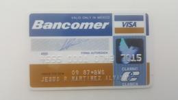 MEXICO - CREDIT  CARD - VISA - BANCOMER BANK - 1987 - Geldkarten (Ablauf Min. 10 Jahre)