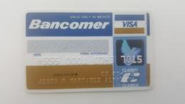 MEXICO - CREDIT  CARD - VISA - BANCOMER BANK - 1989 - Krediet Kaarten (vervaldatum Min. 10 Jaar)