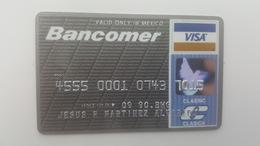 MEXICO - CREDIT  CARD - VISA - BANCOMER BANK - 1990 - Geldkarten (Ablauf Min. 10 Jahre)