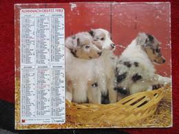 Almanach Des P.T.T. / De 1983 - Calendars