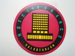 D156553 Hotel Label - Hotel Karancs -Salgótarján Hungary - Hotel Labels