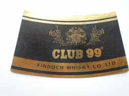 D156559  Etiquette  Label  Whisky - Club 99 Findoch Whisky Ltd. - Whisky