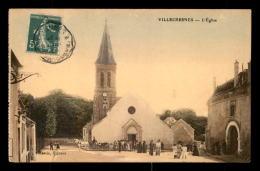 94 - VILLECRESNES - L'EGLISE - SORTIE DE LA MESSE - CARTE COLORISEE - Villecresnes