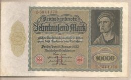 Germania - Banconota Circolata Da 10.000 Marchi P-70 - 1922 - [ 3] 1918-1933: Weimarrepubliek