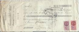 Auch  1945 - Vieux Papier Mandat  Commerce Du Bois Ets  Pavis - Vieux Papiers