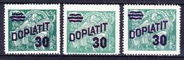 ** Tchécoslovaquie 1926 Mi P 41 (Yv TT 41), (MNH), Couleurs - Timbres-taxe