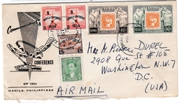 Manila Conference 1954 - Surcharge Overprint - Lettre Cover Brief Letter - Philippines