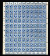 Am-Post-Bogen,26bAz,Bt.10,mit IV,VII,gefaltet (M7) - Bizone
