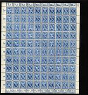Am-Post-Bogen,26bAz,BT.7,mit XII,XV,gefaltet,xx (M7) - Bizone