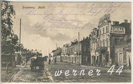 Poniewiesz V.1915 Markt & Hotel Und Pferdefuhrwerk  (5061) - Ostpreussen