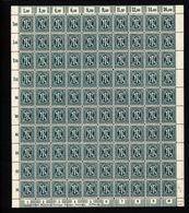 Am-Post-Bogen,25Bz,BT.6,mit III,IV,V, (M7) - Bizone