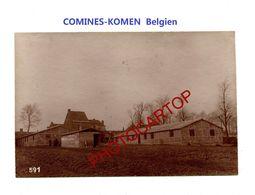 COMINES-KOMEN-Freiburger Baraques-PHOTO Mate Allemande-Cliche 591-Inf. Regt.182-GUERRE 14-18-1 WK-Belgien-Militaria- - Comines-Warneton - Komen-Waasten