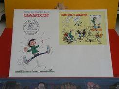 FDC > 2000-2009 >Fête Du Timbre 2002,Gaston Lagaffe > (59) Valenciennes- 24.2.2001>1er Jour FDC-Coté 5€ Grand Enveloppe - 2000-2009