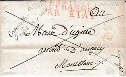 1er Août 1808 - DÉPARTEMENT Du MONTBLANC - Renseignements Sur 4 Citoyens Pour Séjour à Paris - Documents Historiques