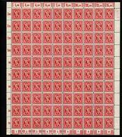 Am-Post-Bogen,24Cz,BT.3,mit IV,gefaltet,xx (M7) - Bizone