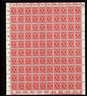 Am-Post-Bogen,24Az,BT.4,mit I,V,IX,X,xx (M7) - Bizone