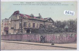 PARIS XIII- ANCIEN HOTEL DE LE PRETRE DE NEUFBOURG- HH 540- RARE SERIE COLORISEE - Arrondissement: 13