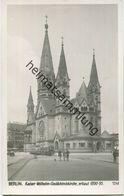 Berlin - Charlottenburg - Kaiser-Wilhelm-Gedächtniskirche - Foto-AK 30er Jahre - Verlag Ludwig Walter Berlin - Charlottenburg