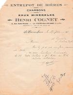 1925 - LA FERTE-sous-JOUARRE (77) - ENTREPÔT DE BIÈRES - Charbons - Eaux Minérales - Michel COGNET - Documenti Storici