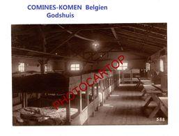 COMINES-KOMEN-Freiburger Baraques-Interieur-PHOTO Mate All.-Cliche 588-Inf. Regt.182-GUERRE 14-18-1 WK-Belgien-Militaria - Comines-Warneton - Komen-Waasten