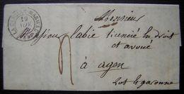 LA CAPELLE-MARIVAL 1842 (Lot) Lettre Pour Agen (Lot Et Garonne) - Poststempel (Briefe)