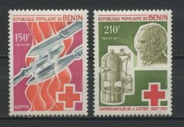 BENIN 1977 N° 395/396 ** Neufs MNH Superbes Cote 6,30 € Lister Asepsie Médecine Chirurgien Medicine - Benin – Dahomey (1960-...)