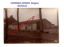 COMINES-KOMEN-Nausen Baraques-Godshuis-PHOTO Mate All.-Cliche 535-Inf. Regt.182-GUERRE 14-18-1 WK-Belgien-Militaria- - Comines-Warneton - Komen-Waasten