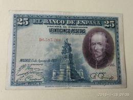 25 Pesetas 1928 - [ 1] …-1931 : Prime Banconote (Banco De España)